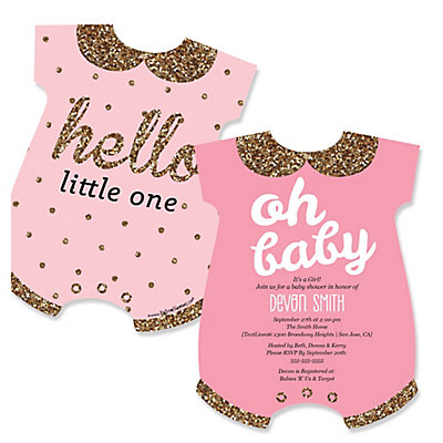 girl baby shower invitations  bigdotofhappiness, Baby shower