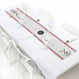Shoots & Scores! - Hockey - Personalized Baby Shower Table Runners