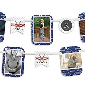 Shoots & Scores! - Hockey - Baby Shower Photo Bunting Banner