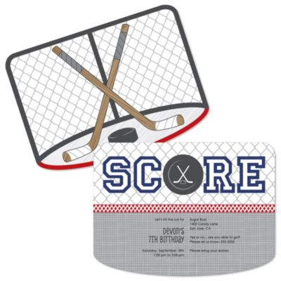 Shoots Scores Hockey Birthday Party Theme