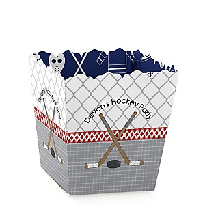Shoots & Scores! - Hockey - Personalized Baby Shower Candy Boxes