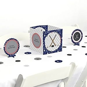 Shoots & Scores! - Hockey - Party Centerpiece & Table Decoration Kit