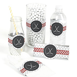 Shoots & Scores! - Hockey - Do It Yourself Baby Shower Wrappers - 15 Count