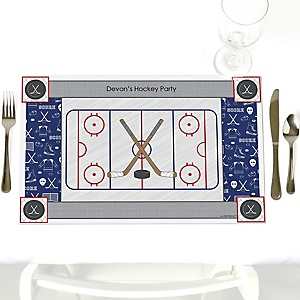 Shoots & Scores! - Hockey - Personalized Party Placemats