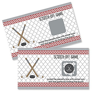 Shoots & Scores! - Hockey - Personalized Baby Shower Scratch-Off Game – 22 Count