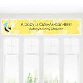 Honey Bee - Personalized Baby Shower Banner