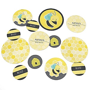 Honey Bee - Personalized Baby Shower Table Confetti - 27 Count