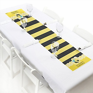Honey Bee - Personalized Baby Shower Petite Table Runners