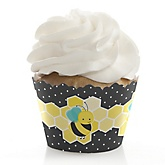 Honey Bee - Baby Shower Cupcake Wrappers
