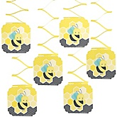 Honey Bee - Baby Shower Hanging Decorations - 6 Count