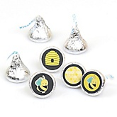 Honey Bee - Round Candy Labels Party Favors - Fits Hershey's Kisses - 108 ct