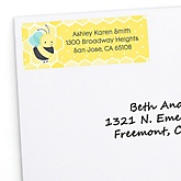 Honey Bee - Personalized Baby Shower Return Address Labels - 30 Count