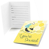 Honey Bee - Fill In Baby Shower Invitations - Set of  8