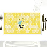 Honey Bee - Personalized Baby Shower Placemats