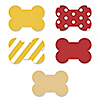 Summer BBQ - Hot Diggity Dog - Bone Shaped Dog Party Cut-outs - 20 ct