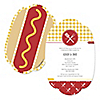 Summer BBQ  - Hot Diggity Dog - Personalized Everyday Party Invitations