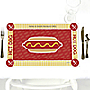 Summer BBQ - Hot Diggity Dog - Personalized Everyday Party Placemats