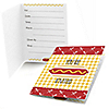 Summer BBQ - Hot Diggity Dog - Dog Party Fill In Invitations - 8 ct