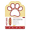 Summer BBQ - Hot Diggity Dog - Paw Shaped Personalized Dog Party Invitations