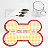 Summer BBQ - Hot Diggity Dog - Bone Shaped Personalized Dog Party Placemats