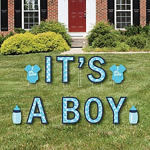 It's A Boy - Yard Sign Outdoor Lawn Decorations - Boy Baby Shower And Baby Announcement Yard Signs