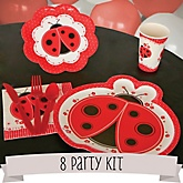 Modern Ladybug - 8 Person Baby Shower Kit