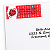 Modern Ladybug - Personalized Baby Shower Return Address Labels - 30 ct
