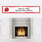 Modern Ladybug - Personalized Baby Shower Banners