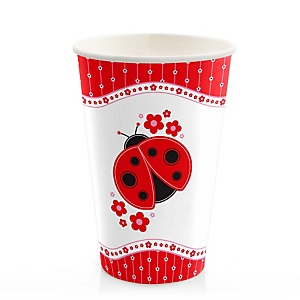 Modern Ladybug - Baby Shower Hot/Cold Cups - 8 Pack