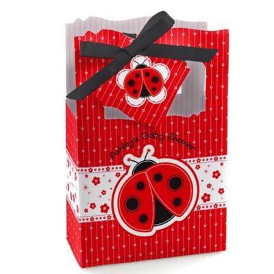 modern ladybug baby shower favor boxes