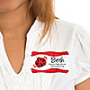 Modern Ladybug  - Personalized Baby Shower Name Tag Stickers - 8 ct