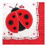 Modern Ladybug - Baby Shower Luncheon Napkins - 16 ct