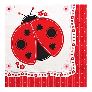 Modern Ladybug - Baby Shower Luncheon Napkins - 16 Pack