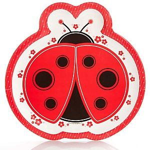 Modern Ladybug - Baby Shower Dinner Plates - 8 Pack