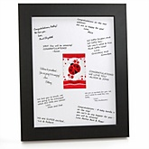 Modern Ladybug - Personalized Baby Shower Print with Signature Mat
