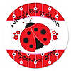 Modern Ladybug - Personalized Baby Shower Sticker Labels - 24 ct