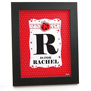 Modern Ladybug - Personalized Nursery Wall Art Gift