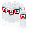 Modern Ladybug - Personalized Baby Shower Water Bottle Label Favors