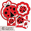 Modern Ladybug - Birthday Party 48 Big Dot Bundle