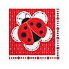 Modern Ladybug - Birthday Party Beverage Napkins - 16 ct