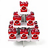 Modern Ladybug - Birthday Party Candy Stand and 13 Candy Boxes