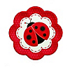 Modern Ladybug - Birthday Party Dessert Plates - 8 ct