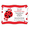 Modern Ladybug - Personalized Birthday Party Invitations