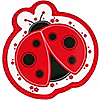 Modern Ladybug - Birthday Party Dinner Plates - 8 ct