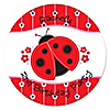 Modern Ladybug - Personalized Birthday Party Sticker Labels - 24 ct
