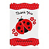 Modern Ladybug - Personalized Birthday Party Thank You Cards