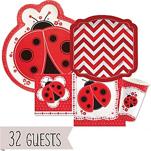 Ladybug/Chevron Red  32 Big Dot Bundle