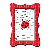 Modern Ladybug - Unique Alternative Guest Book - Baby Shower or Birthday Party Signature Mat