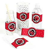 Modern Ladybug - Do It Yourself Baby Shower Wrappers - 15 Count