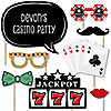 Las Vegas - 20 Piece Casino Photo Booth Props Kit